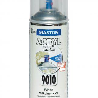 Акрилна боя на спрей-бяло гланц