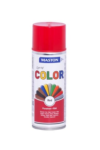 Синтетична боя на спрей-червено