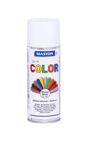 Синтетична боя на спрей-бяло гланц