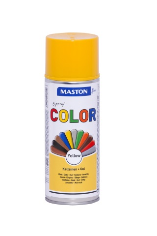 Синтетична боя на спрей-жълто