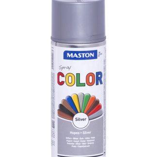 Синтетична боя на спрей-сребристо